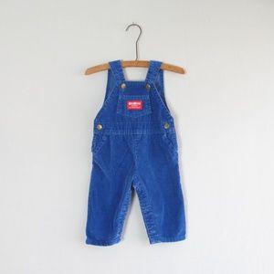 Vintage Oshkosh B'Gosh baby boy blue vestbak bibs